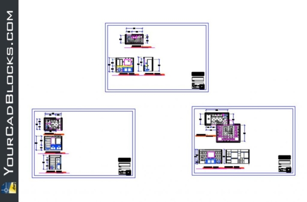 Casa residency Details of bathrooms and toilets dwg cad