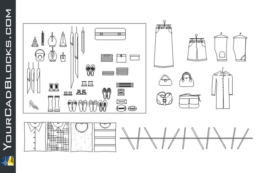 Clothing and accessories dwg