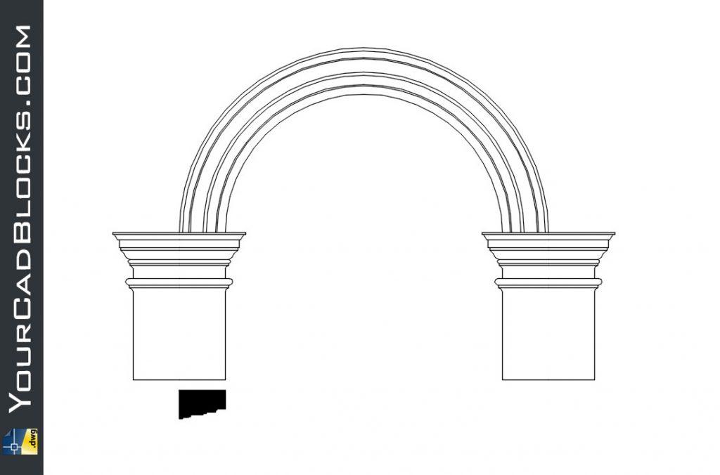 Corinthian arch dwg