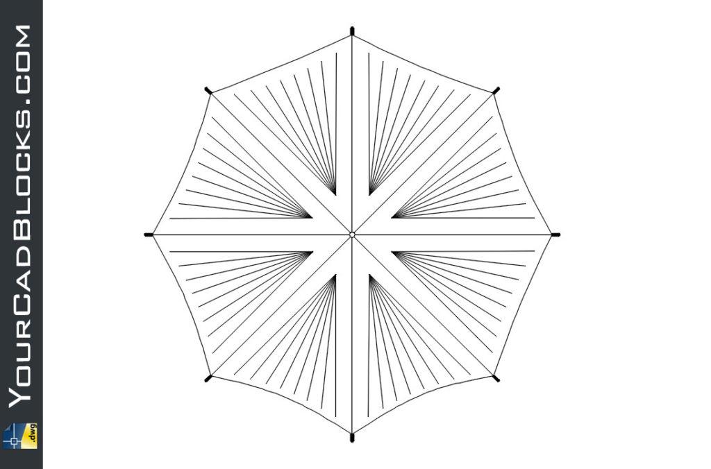 Umbrella dwg ▷ Sombrilla en AutoCAD