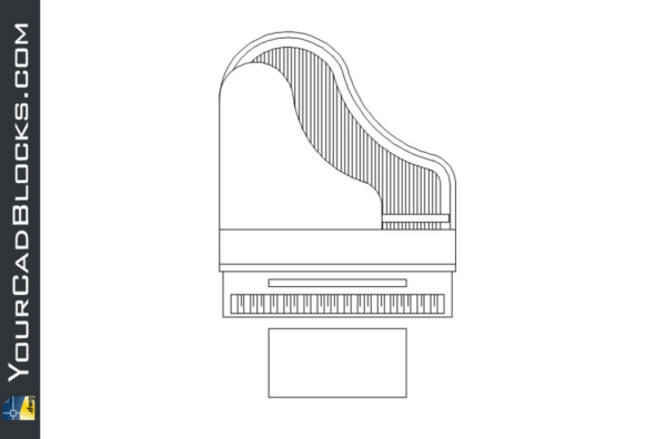 Piano dwg autocad