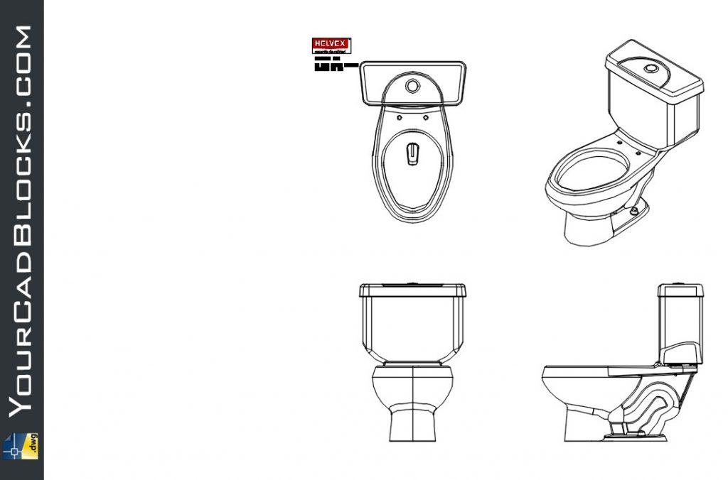 Toilet Helvex brand dwg cad