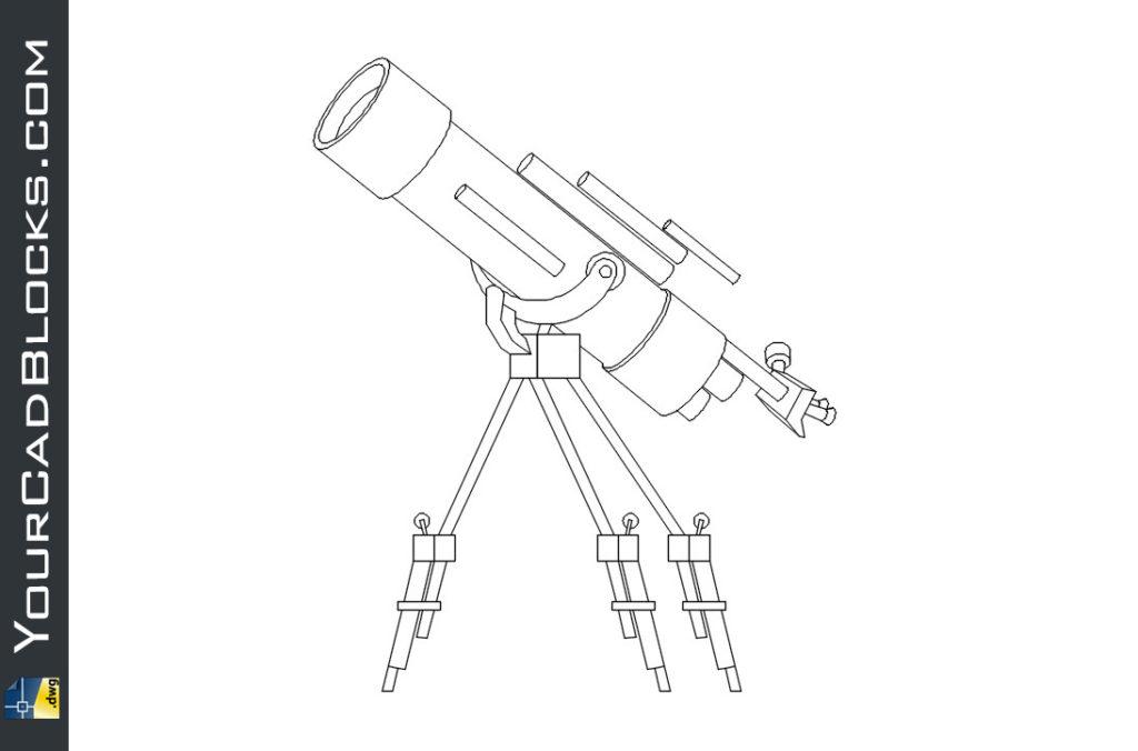 Telescope dwg cad autocad