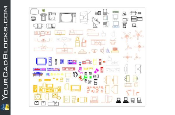 Computer Printer CAD Blocks in Autocad