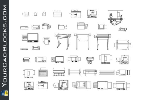 Photocopier CAD Blocks in Autocad